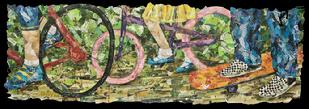 Dr Royce collage davis sacramento ca eileen downes collage art artist bicycles